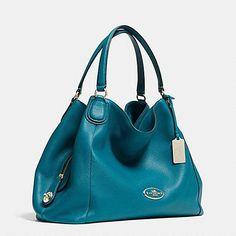 Edie Shoulder Bag In Refined Pebble Leather