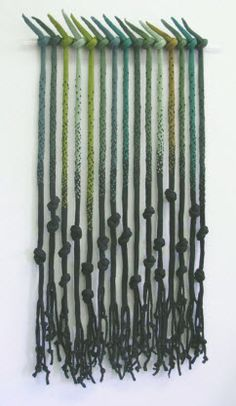 "Uprooted, Knitted cotton, 44"" x 22"", 2010. Sculptural Knitting. Adrienne Sloane."