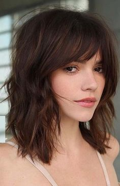 Medium Length Hair With Layers, Bangs With Medium Hair, Medium Layered, Long Layered, Shoulder Length Hair With Bangs, Medium Cut, Medium Long, Medium Shaggy Bob, Layered Haircuts Shoulder Length