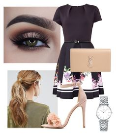 """""""Featuring Ted Baker"""" by cecithestylespotter ❤ liked on Polyvore featuring Kitsch, Ted Baker, Charlotte Russe, Yves Saint Laurent, Longines and cecithestylespotter"""
