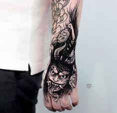 Tattoo Arm Designs, Japanese Tattoo Designs, Japanese Tattoo Art, Body Art Tattoos, Hand Tattoos, Shiva Tattoo, Fire Tattoo, Tattoo Equipment, Oriental Tattoo