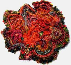 a freeform scrumble, crochet and knitting