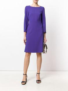Luisa Cerano платье с круглым вырезом