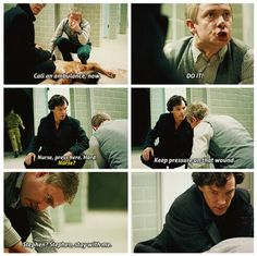 """Ok, John gets to take charge now and Sherlock gets to watch. """"I will solve your murder. But John Watson will save your life. Sherlock Season 3, Sherlock Series, Sherlock Cast, Sherlock Holmes Bbc, Sherlock Fandom, Sherlock John, Mrs Hudson, Doctor Johns, Benedict Cumberbatch Sherlock"""