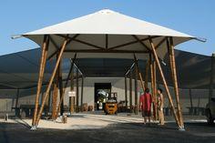 Guaduatech Bamboo Architecture. Big tiki. Bamboo structure