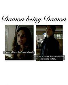 The Vampire Diaries- Damon being.......Damon