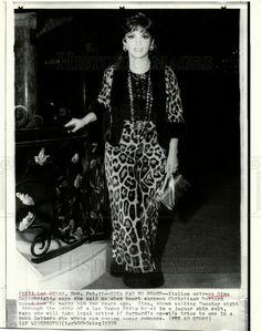 1970 PRESS PHOTO GINA LOLLOBRIGIDA ACTRESS