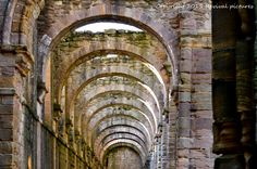 Row of arches..fountains abbey