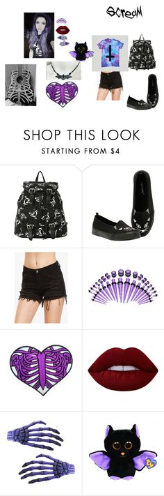 """""""so bored"""" by zoeythehumanespeon ❤ liked on Polyvore featuring Lime Crime and Kreepsville 666"""