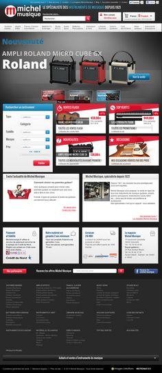 Michel Musique - Site e-commerce réalisé sur plateforme #Magento by www.imagescreations.fr
