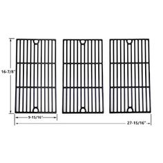 Porcelain Cast Iron Cooking Grid for Centro, Coleman Charbroil 463254405 and Broil King Gas Grill Models, Set of 3 Fits Centro Models : Bbq Grill Parts, Bbq Parts, Chef Grill, Cooking On The Grill, Grill Gas, Grill Brands, Casting Models, Bbq Accessories, Cast Iron Cooking
