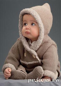 Пальто для малыша спицами