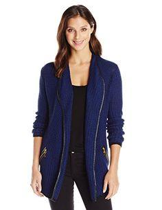 Colour Works Women's Long Sleeve Marled Draped Cardigan Sweater with Type Trim, Royal Combo, Large Colour Works http://www.amazon.com/dp/B00LI5VSWU/ref=cm_sw_r_pi_dp_-qvIub0KS0HXS