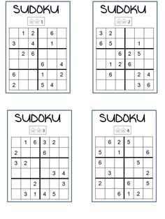 SUDOKU 3 niveaux - I thought I was a pro until I introduced by mom to it and she became a black belt. Sudoku Puzzles, Logic Puzzles, Crossword Puzzles, Mental Maths Worksheets, English Worksheets For Kids, Math Games, Math Activities, Opposites Worksheet, English Writing Skills