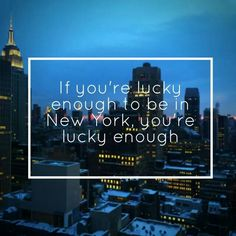 I'll be lucky enough one day... #NYC20xx