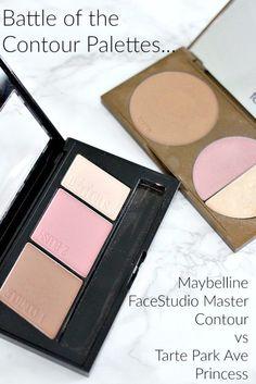 Contour Palettes Review | Maybelline FaceStudio Master Contour vs Tarte Park Ave Princess