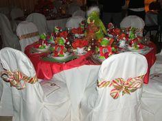 2006 Christmas Tea tablescape. The Grinch