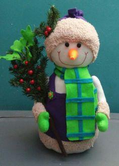 Muñeco de nieve echo a mano #fieltro #hiloyaguja #navidad #arteconlasmanos