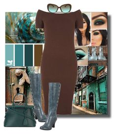 """""""Dream Sets, Teal and Brown"""" by sheri-gifford-pauline ❤ liked on Polyvore featuring Nanette Lepore, Dorothy Perkins, Miz Mooz, Maison Margiela, teal, brown and dreamsets"""