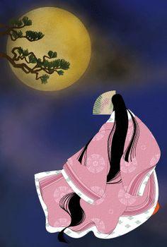 かぐや姫~Kaguya~ with soul of husband Heian Era, Heian Period, Japanese Landscape, Japanese Art, Japan Illustration, Batik Art, Aesthetic Japan, Japanese Embroidery, Art For Art Sake