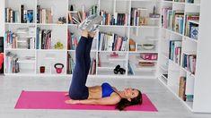 YENİ BAŞLAYANLAR İÇİN İNCE BACAK HAREKETLERİ - YouTube Squats, Bean Bag Chair, Bookcase, Kids Rugs, Fitness, Youtube, Exercises, Plates, Sport