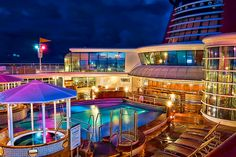 Wonderful pictures from Disney Wonder cruise ship at night. We all can't wait to get back on a Disney cruise after July 27, 2020