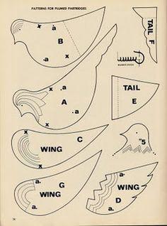 Vintage bird patterns