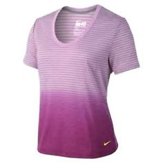 NIKE OMBRE STRIPE DB WOMEN'S SHIRT WAS $35 LARGE #mommy #barre #yoga