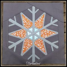 Looking for your next project? You're going to love Snowflake 12 inch Paper Pieced by designer The Tartankiwi. - via @Craftsy