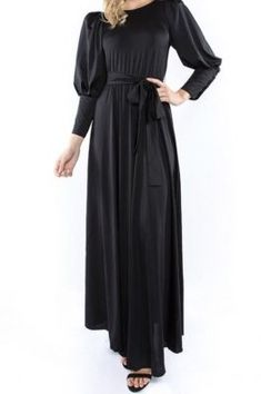 51d49c52e23a Long puff sleeve maxi dress #mothersday #maxidress #modestfashion #modesty # shannasthreads New