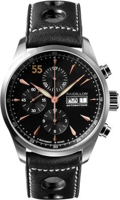 Raidillon Watch Timeless Chronograph Limited Edition #add-content #bezel-fixed #bracelet-strap-leather #brand-raidillon #case-material-steel #case-width-42mm #chronograph-yes #date-yes #day-yes #delivery-timescale-call-us #dial-colour-black #gender-mens #limited-edition-yes #luxury #movement-automatic #new-product-yes #official-stockist-for-raidillon-watches #packaging-raidillon-watch-packaging #style-sports #subcat-timeless #supplier-model-no-42-c10-048…