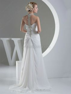 A-line Halter Wedding Dress