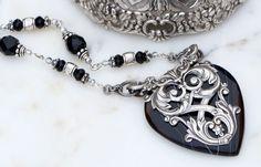Black Onyx Jewelry Necklace Onyx Necklace by KarenTylerDesigns