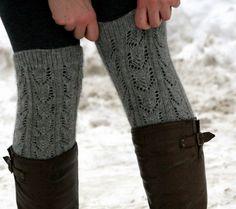 grey knee-highs + boots #grey #brown #socks