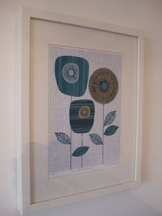 Blue Block Flowers, limited edition giclee print. $25.00, via Etsy.