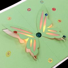 LED Butterfly Pop Up Card