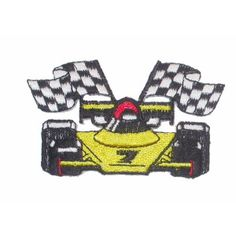 Iron On Patch Applique Racing Car