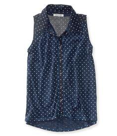 Sheer Sleeveless Shirt from Aeropostale