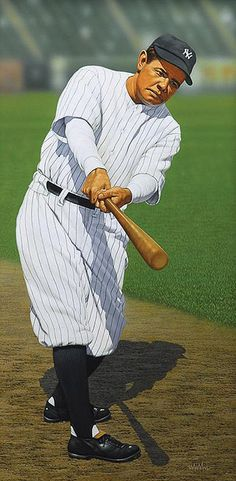 Babe Ruth painting by Arthur K. Miller