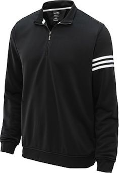 577cd44891b7 adidas Men s Climalite 3-Stripes 1 2-Zip Golf Pullover Mens Golf Outfit