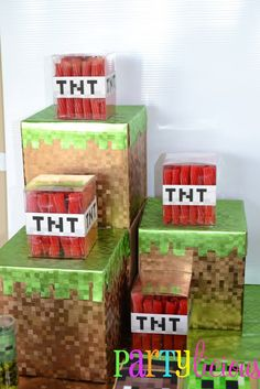 Partylicious: {Minecraft Birthday Party} TNT Licorice