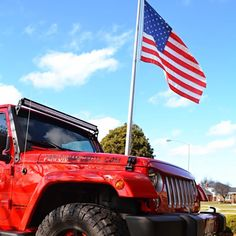 "Reposting @performancedtlhp: ... ""In honor of Flag Day #performancedtlhp #flagday #jeep #orlandpark #jeeps @megsredjk"""