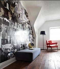 I want to do a wall only with Lucille Ball Marilyn Monroe Audrey Hepburn and Elvis :)