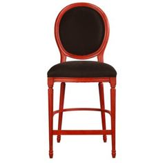 Check out this item at One Kings Lane! Louis XVI Counter Stool, Red