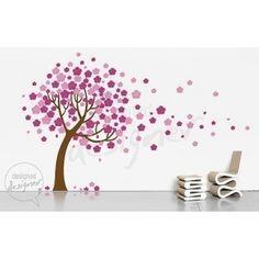 Trailing Cherry Blossom Tree Decal - Belbambinokids.com.au
