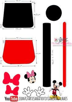 Artesanato Viviane Magalhães: Como fazer mochilinha da Minnie e mickey em EVA