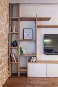 New living room furniture ikea shelves ideas Living Room Shelves, Living Room Tv, Small Living Rooms, Apartment Living, Apartment Therapy, Apartment Plants, Apartment Entryway, Apartment Kitchen, White Apartment