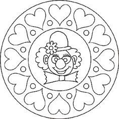 Mandala - Clown sydämen