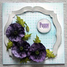 Sheena Victorian Floral Poppy Stamp Set. Sheena Victorian Floral Poppy Die Set. @CraftersCompUS