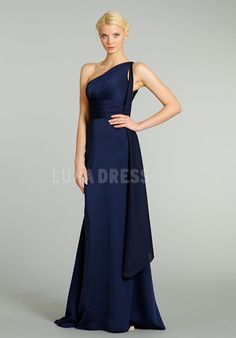 Dazzeling Elastic Silk Like Satin A line Empire Sweep  Brush Train  Bridesmaid Dresses b172ee0833c2